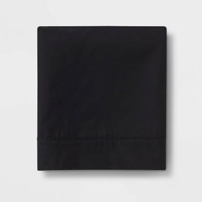 Ultra Soft Flat Sheet (King)Black 300 Thread Count - Threshold™