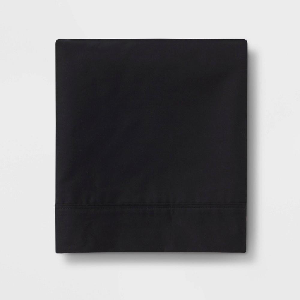 Ultra Soft Flat Sheet (King) Black 300 Thread Count - Threshold Price