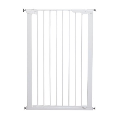 """Scandinavian Pet Design Xtra Tall 31"""" Pressure Mounted Animal Safety Gate for Small and Large Dogs, White"""