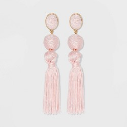 SUGARFIX by BaubleBar Ball Drop Tassel Earrings