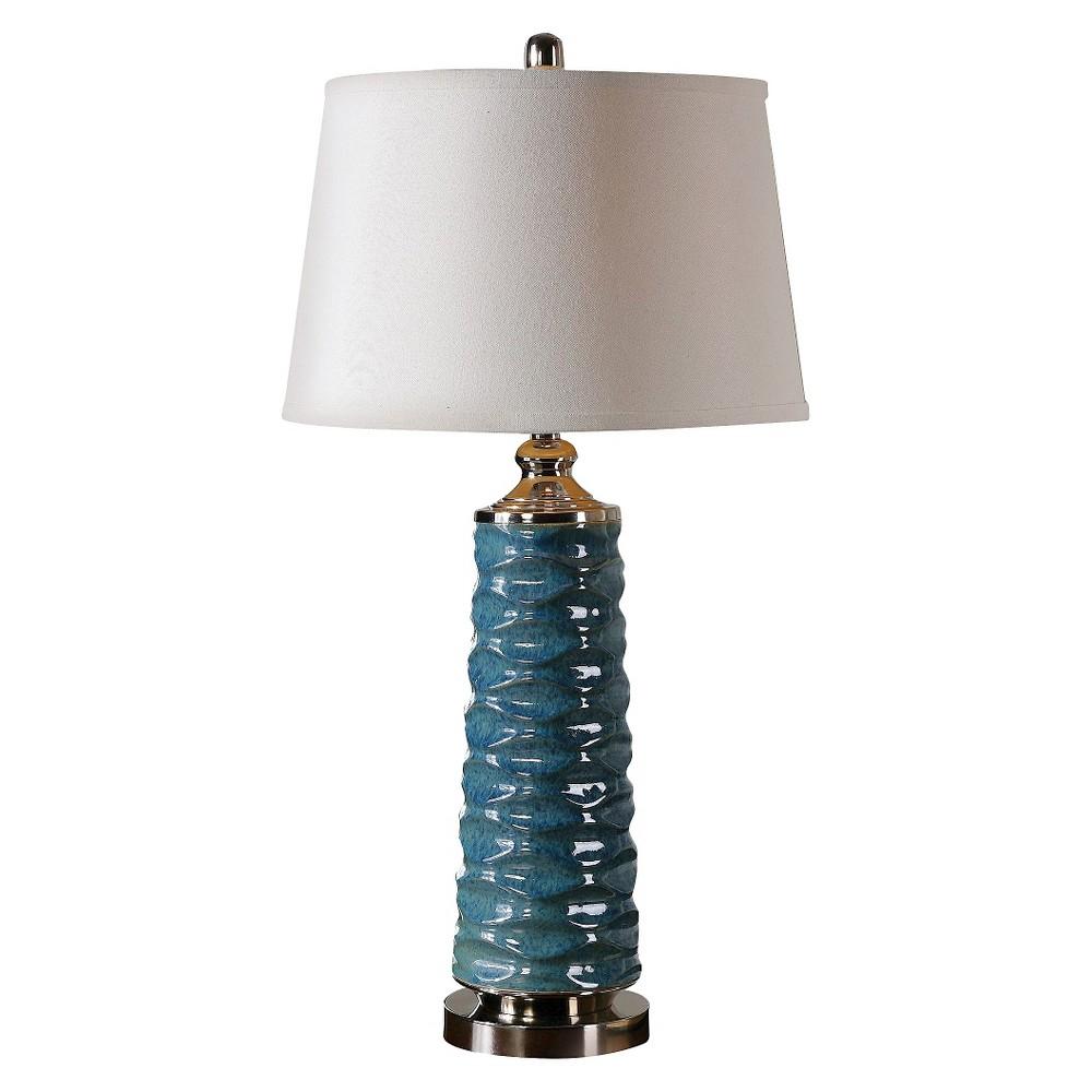 Image of Delavan Rust Blue Table Lamp