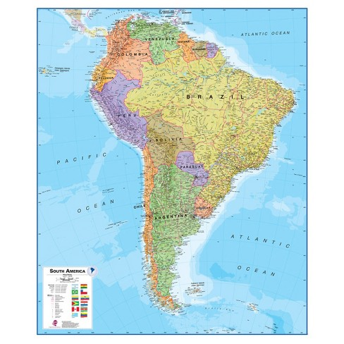 Maps International South America 1:7 Wall Map - image 1 of 1