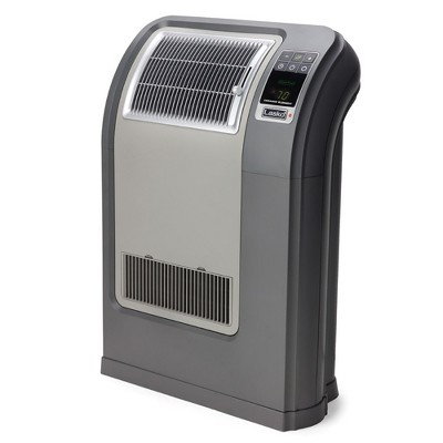 Lasko CC24841 Portable Space Saving Digital Cyclonic Ceramic Space Heater with Remote Control, Gray