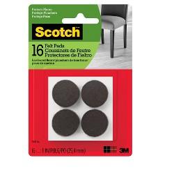 Scotch 1 16pk Felt Pads Brown