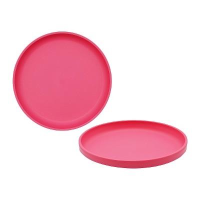 Little Kid's Round Plastic Salad Plate 7.3  Pink - Pillowfort™