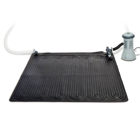 Intex 28685E Solar Mat Above Ground Swimming Pool Water Heater for 8,000 GPH Pool, Black - image 1 of 4