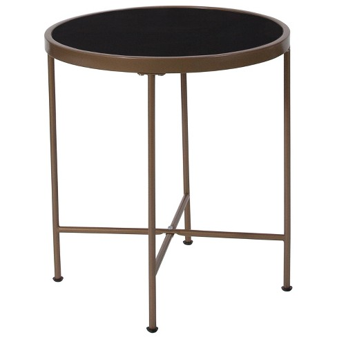 Chelsea Glass End Table Black - Riverstone Furniture - image 1 of 2