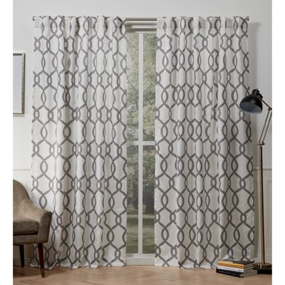 Kochi Back Tab Light Filtering Window Curtain Panels - Exclusive Home
