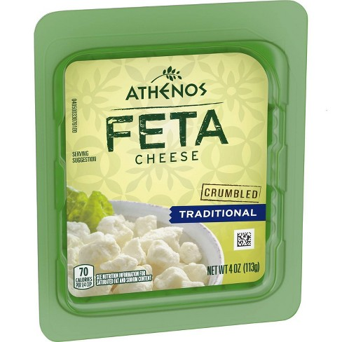 Athenos Crumbled Traditional Feta Cheese - 4oz - image 1 of 4