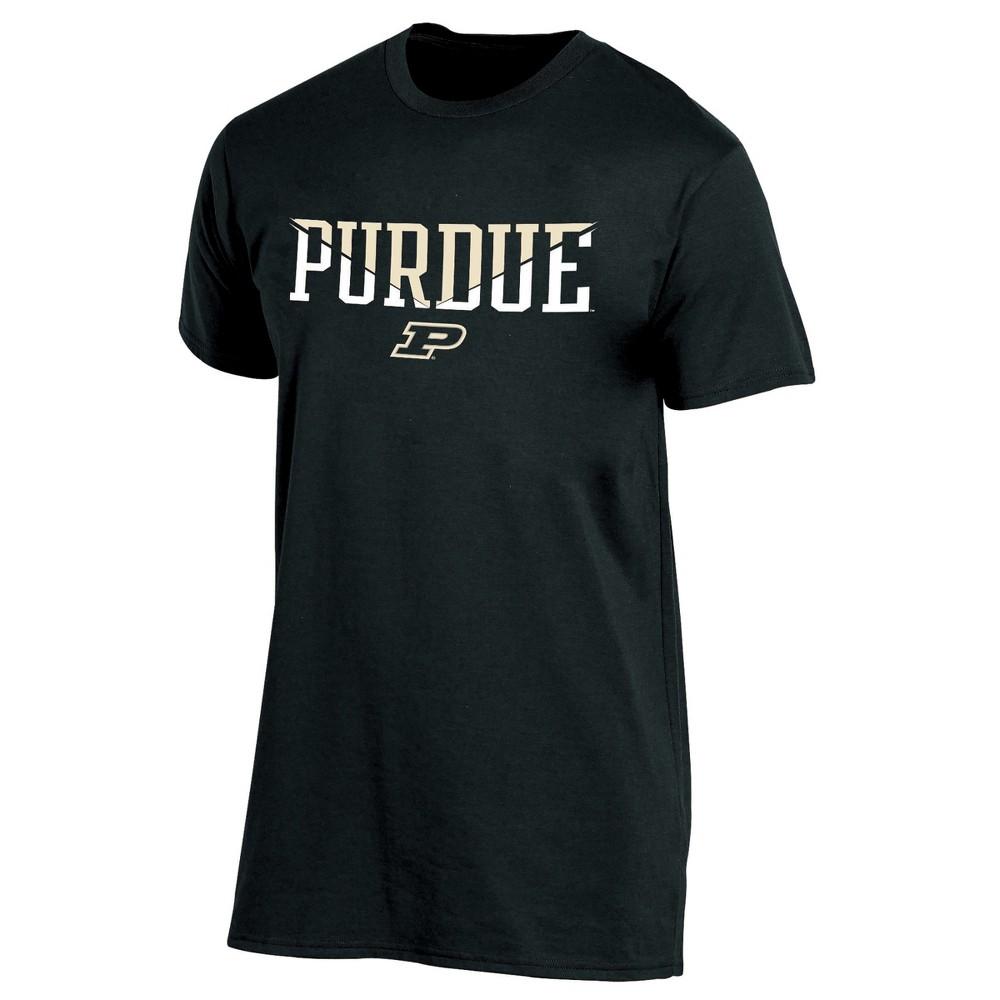 Purdue Boilermakers Men's Short Sleeve Core Wordmark T-Shirt - Heather XL, Multicolored