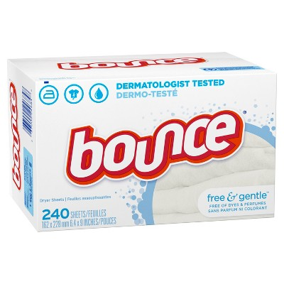 Bounce Fabric Softener Sheets Free & Gentle - 240ct