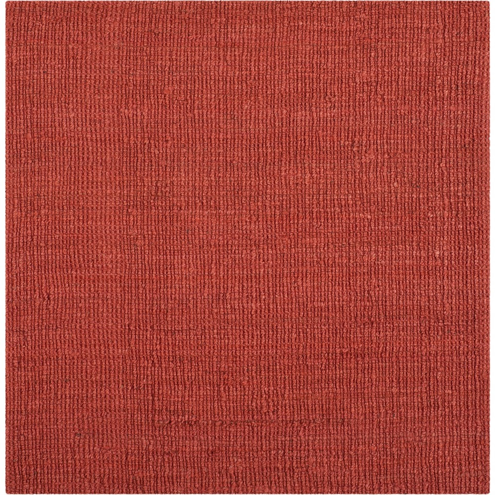 6'X6' Solid Woven Square Area Rug Rust (Red) - Safavieh