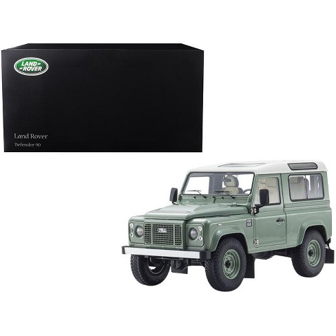 Land Rover Defender 90 Heritage Grasmere Green with Alaska White Top 1/18 Diecast Model Car by Kyosho - image 1 of 3