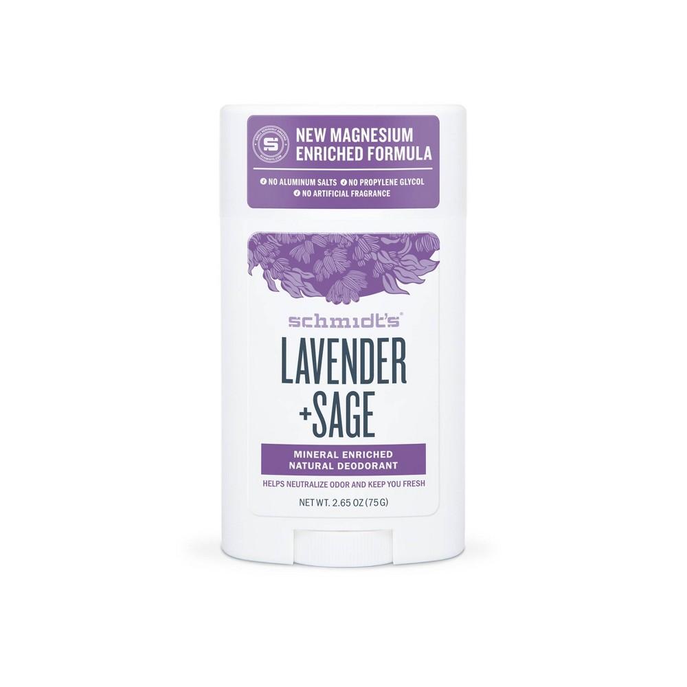 Image of Schmidt's Lavender + Sage Aluminum-Free Natural Deodorant Stick - 2.65oz