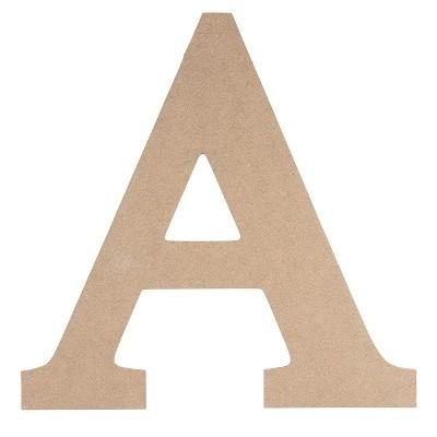 Wooden Greek Letter- DIY Paintable Unfinished Wood Letter Greek Font A for Alpha