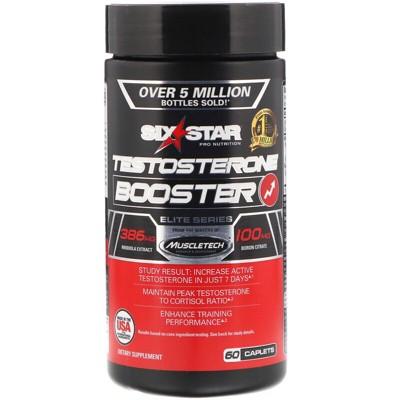Six Star Elite Series, Testosterone Booster, 60 Caplets, Dietary Supplements