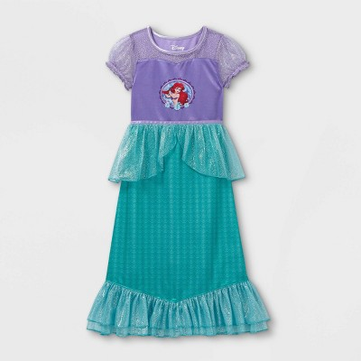 Girls' Disney Princess Ariel Sea Shells Nightgown - Purple/Green
