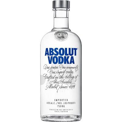 Absolut Vodka - 750ml Bottle