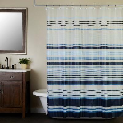 Arlington Striped Shower Curtain Blue - SKL Home