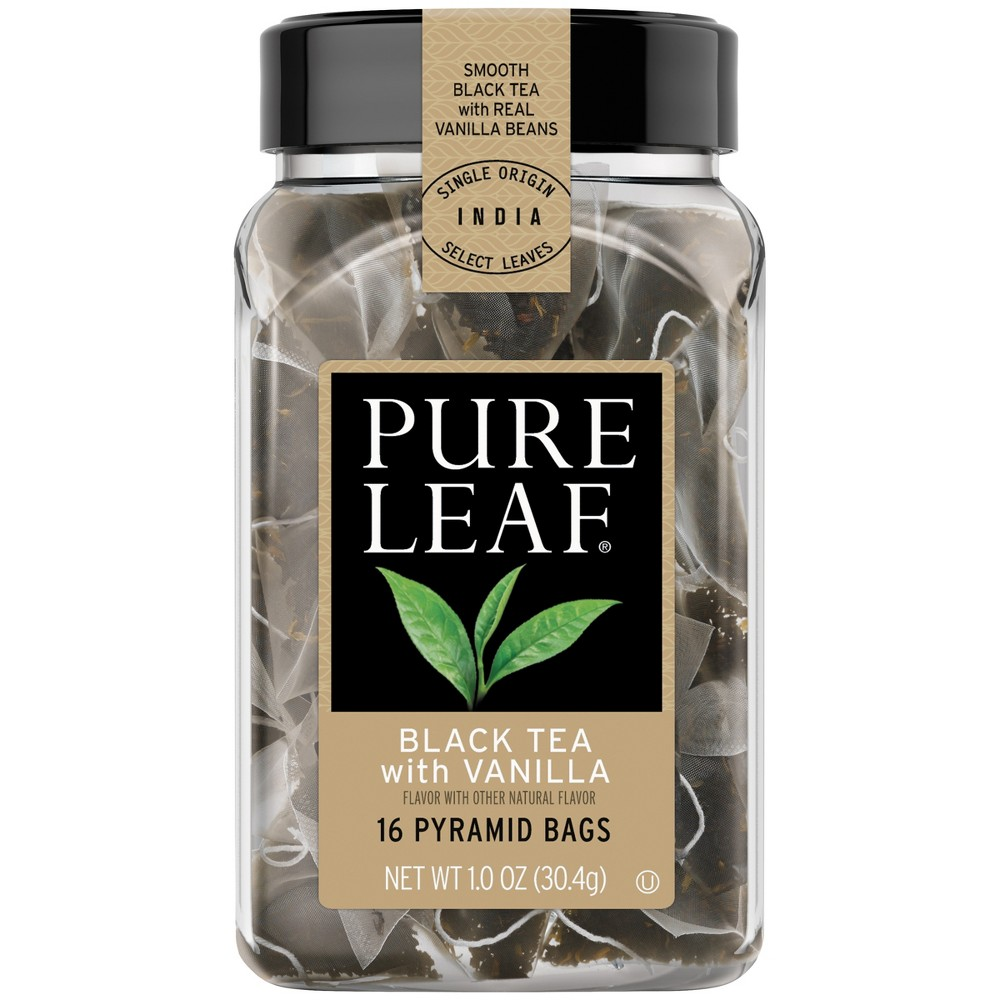 Pure Leaf Hot Black Tea with Vanilla Tea Bag - 16ct