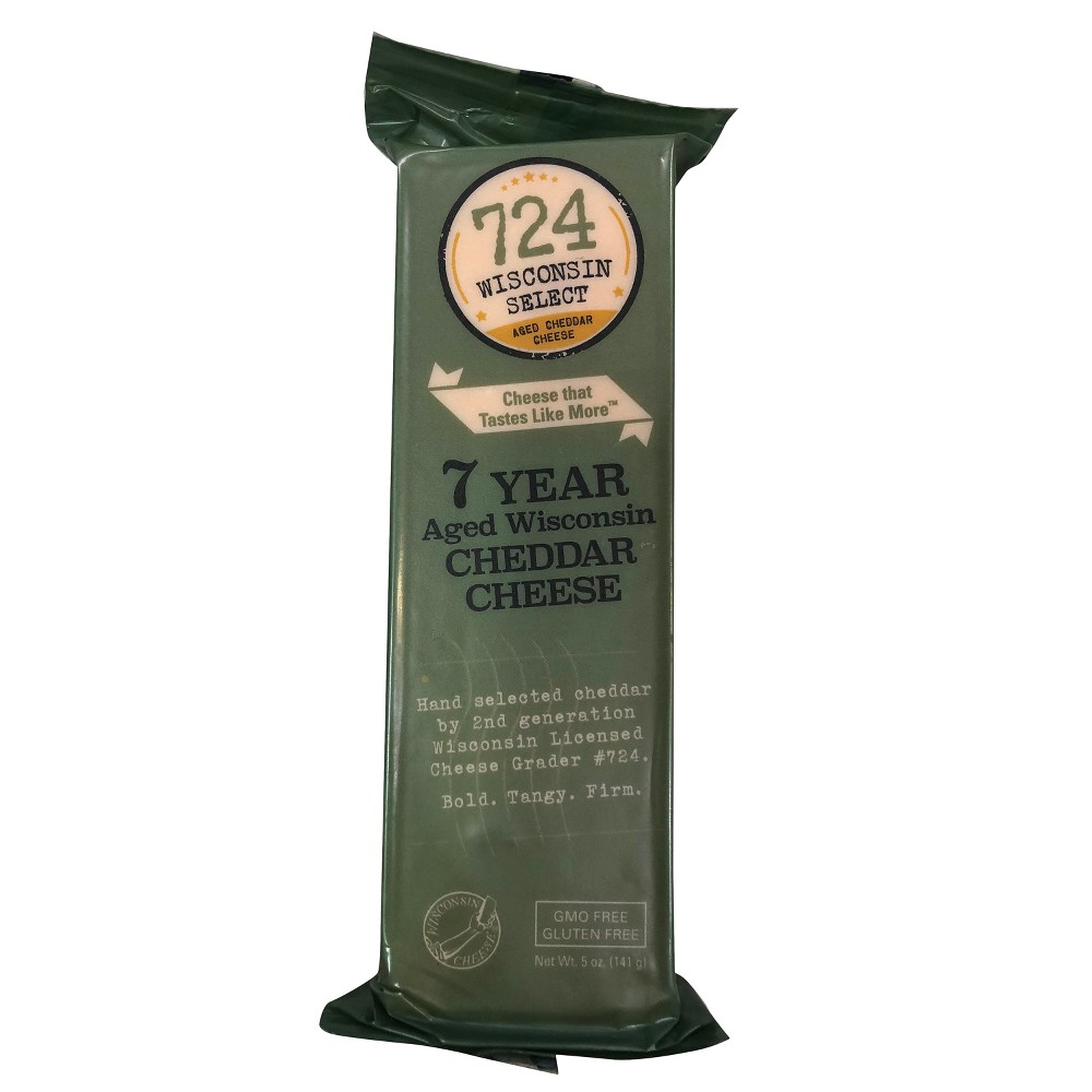 Image of 724 Wisconsin Select 7 Year Aged Wisconsin Cheddar Cheese - 5oz