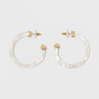 SUGARFIX by BaubleBar Resin Hoop Earrings - White