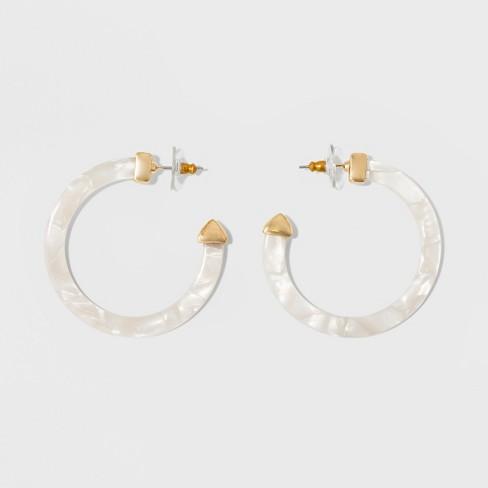 Sugarfix By Baublebar Resin Hoop Earrings