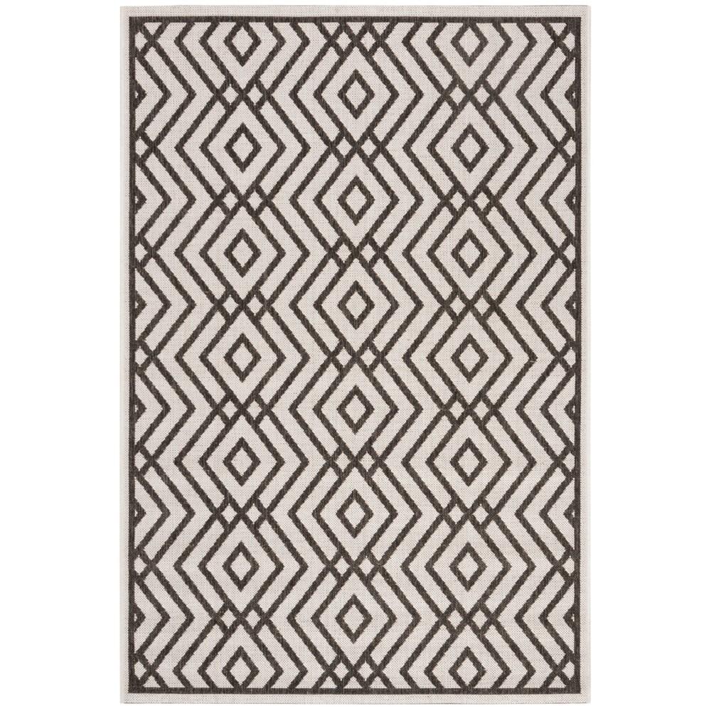 4'X6' Geometric Loomed Area Rug Light Gray/Charcoal (Light Gray/Grey) - Safavieh