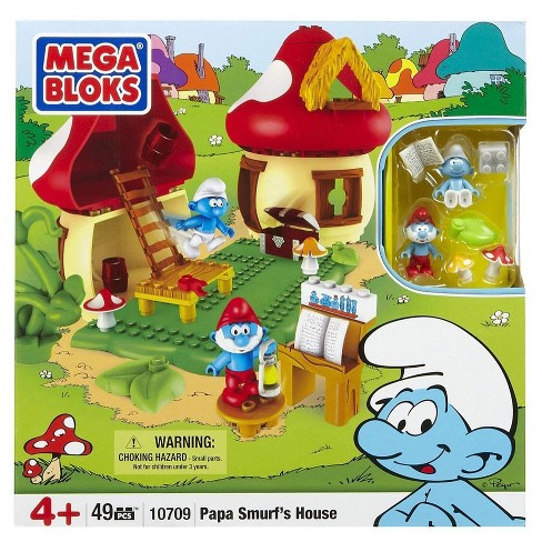 Mega Bloks The Smurfs Papa Smurf's House Set #10709 - image 1 of 2
