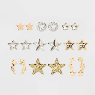 Star Multi Earring Set 9pc - Wild Fable™