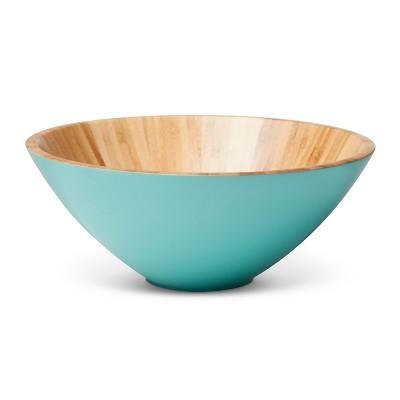 Medium 72oz Bamboo Serving Bowl Turquoise