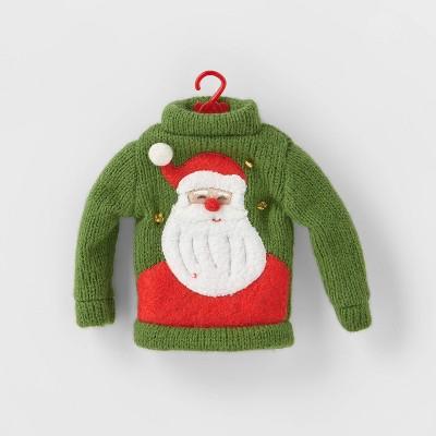 Knit Ugly Sweater Christmas Tree Ornament Dark Green - Wondershop™