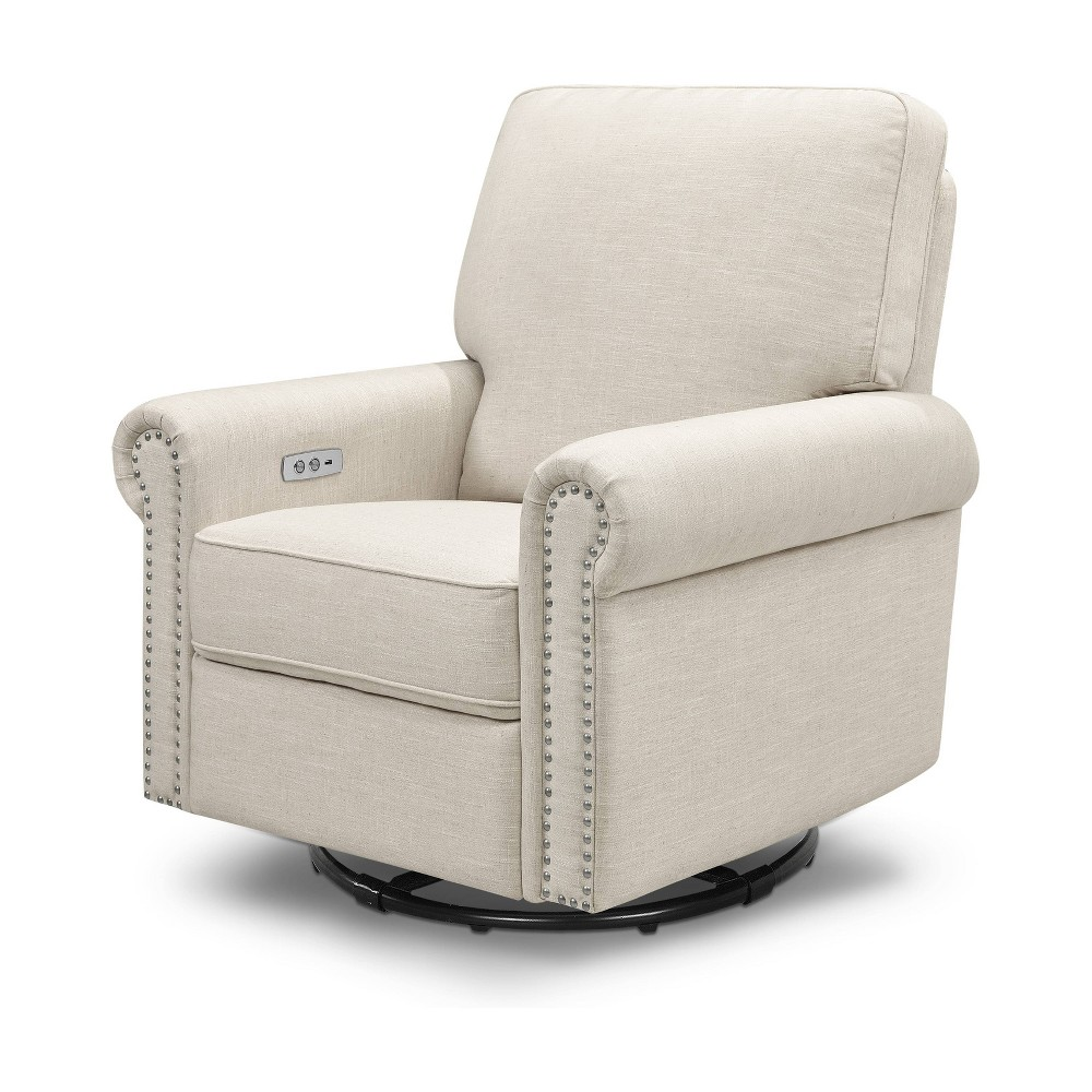 Image of Million Dollar Baby Classic Linden Power Recliner - White Linen