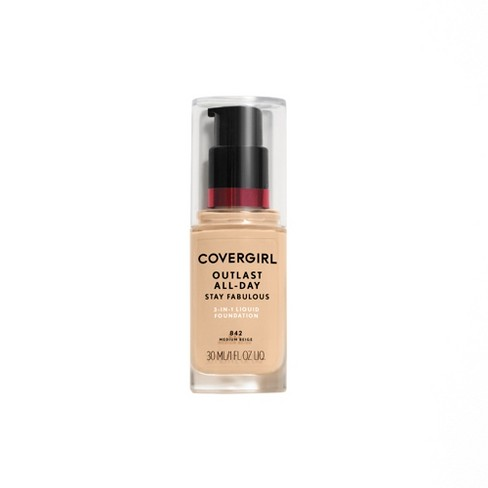 COVERGIRL + Olay Stay Fabulous 3-in-1 Foundation 842 Medium Beige 1 fl oz - image 1 of 3