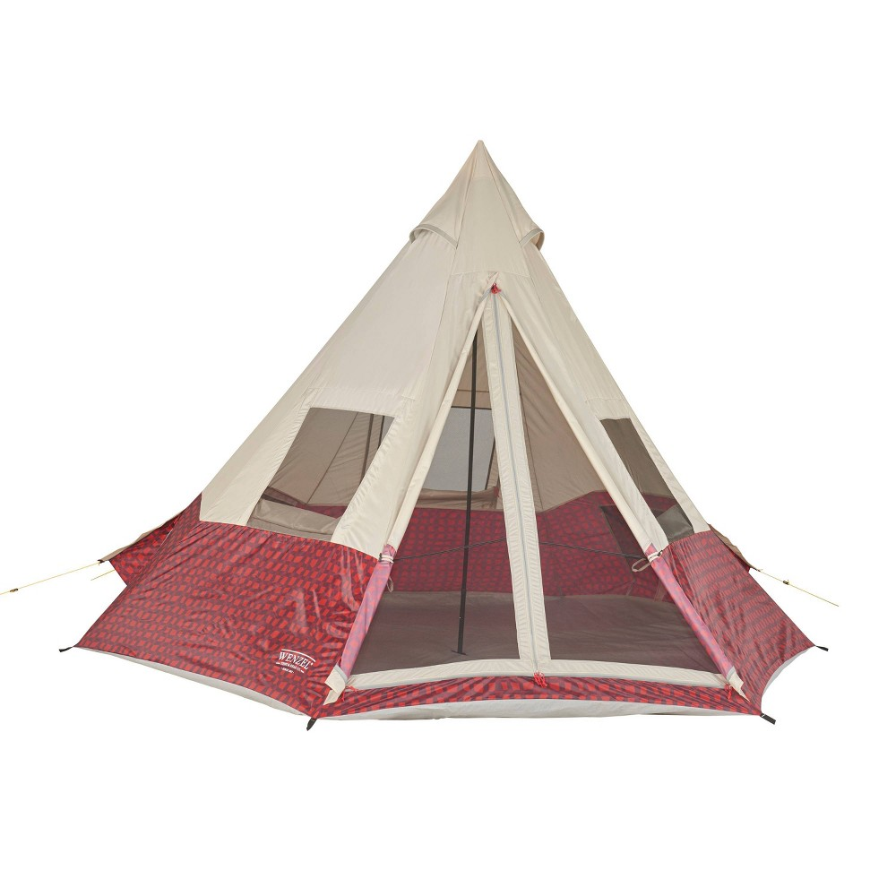 Image of Camping Tents Wenzel 5 People Red
