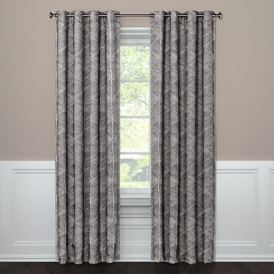 "95""x50"" Blackout Curtain Panel Modern Stroke Gray - Project 62™"