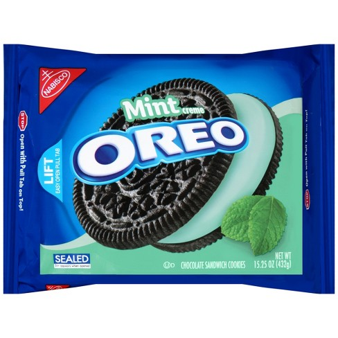 Oreo Mint Creme Chocolate Sandwich Cookies - 15.25oz - image 1 of 2