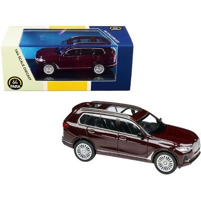 BMW X7 Ametrine Red Metallic 1/64 Diecast Model Car by Paragon