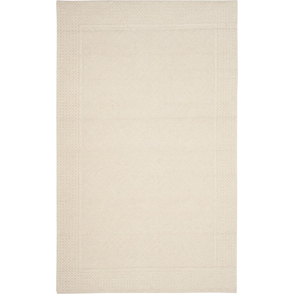 4'X6' Solid Woven Area Rug Ivory - Safavieh