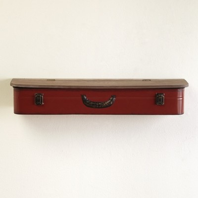 Lakeside Vintage Style Suitcase Aesthetic Wall Hanging Open-Top Shelves
