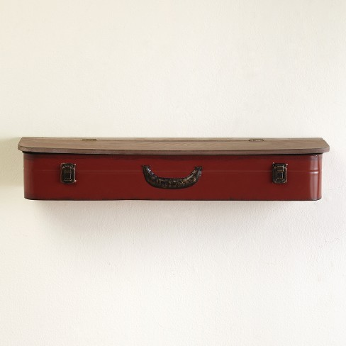 Lakeside Vintage Style Suitcase Aesthetic Wall Hanging Open-Top Shelves - image 1 of 1