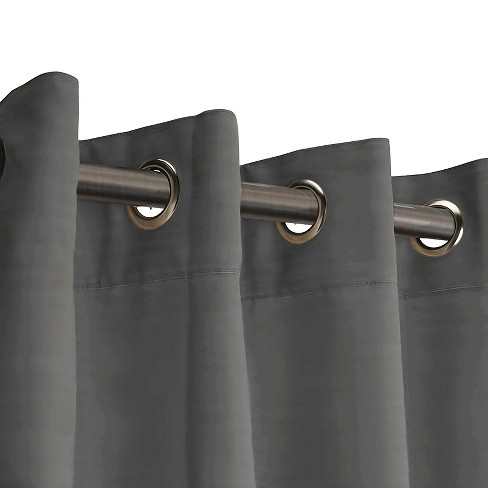 Hanging Curtain Room Divider Kit Gray - RoomDividersNow - image 1 of 5