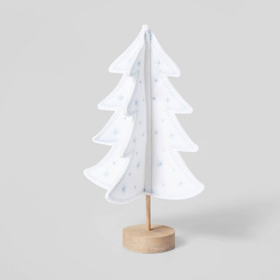 Felt Christmas Tree with Stitching Decorative Figurine - Wondershop™