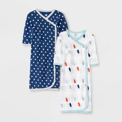Baby Boys' 2pk Little Peanut Night Gown - Cloud Island™ Preemie