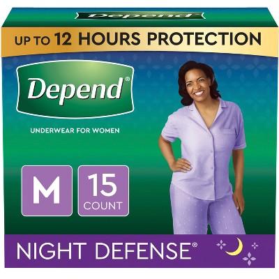 Depend Women's Night Defense Incontinence Underwear - Medium