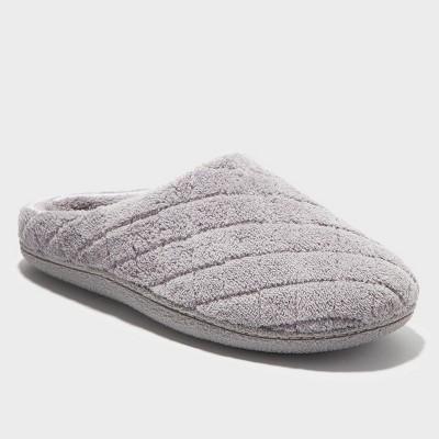 Women's Dearfoams Quilted Memory Foam Clog Slippers - Gray