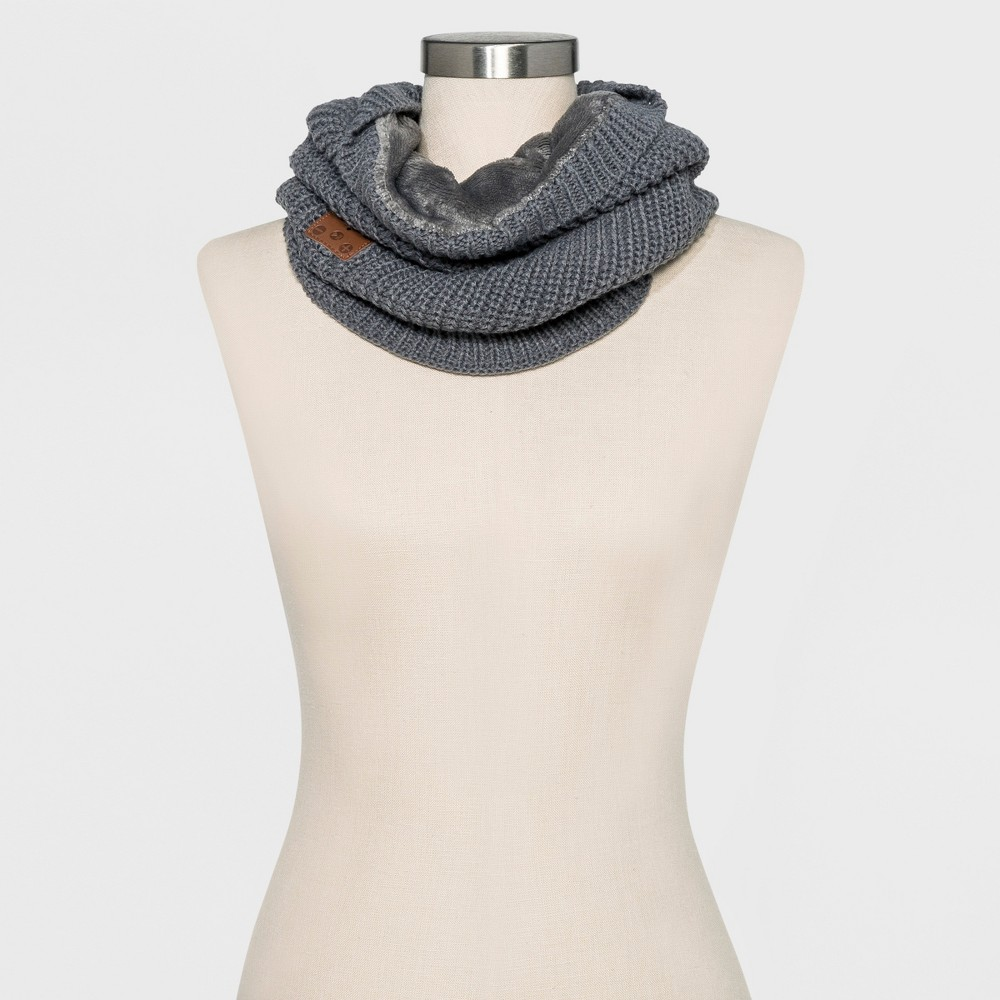 Accessory Innovation Velur Lined Bluetooth Neck Cuff Scarves - Gray