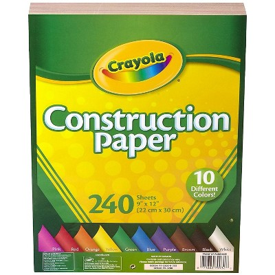 Crayola Construction Paper, Assorted Colors, 480 99-0013
