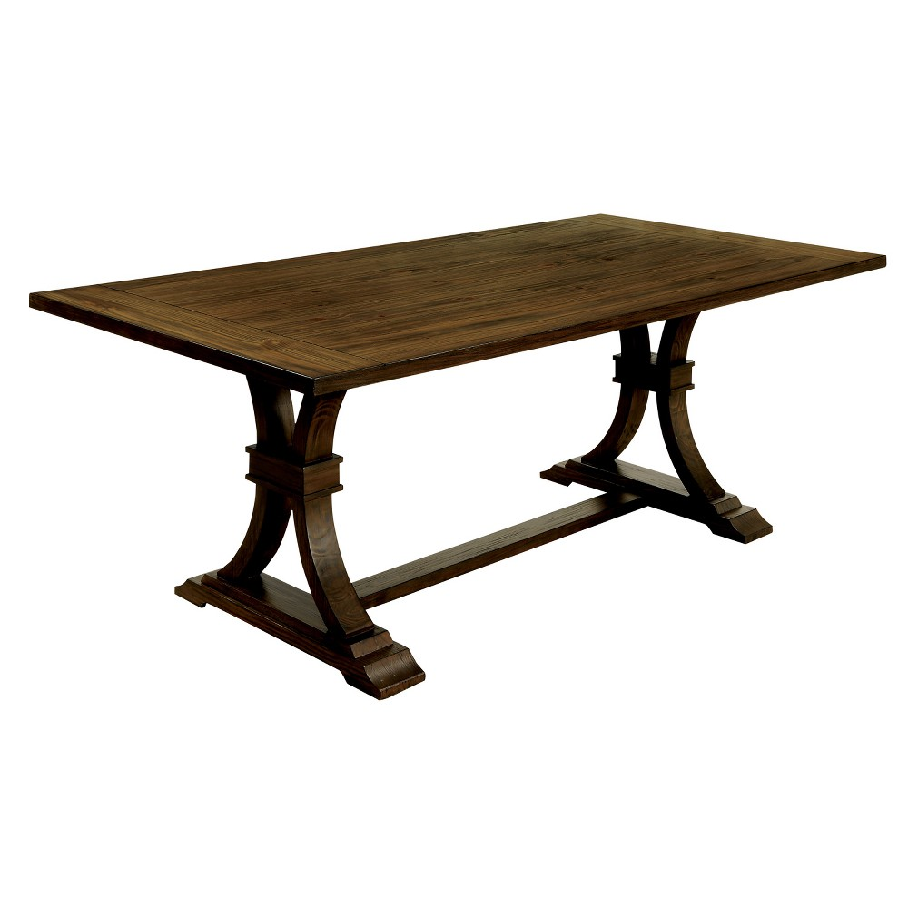 Iohomes Kerney Transitional Wooden Dining Table Rustic Oak - Homes: Inside + Out