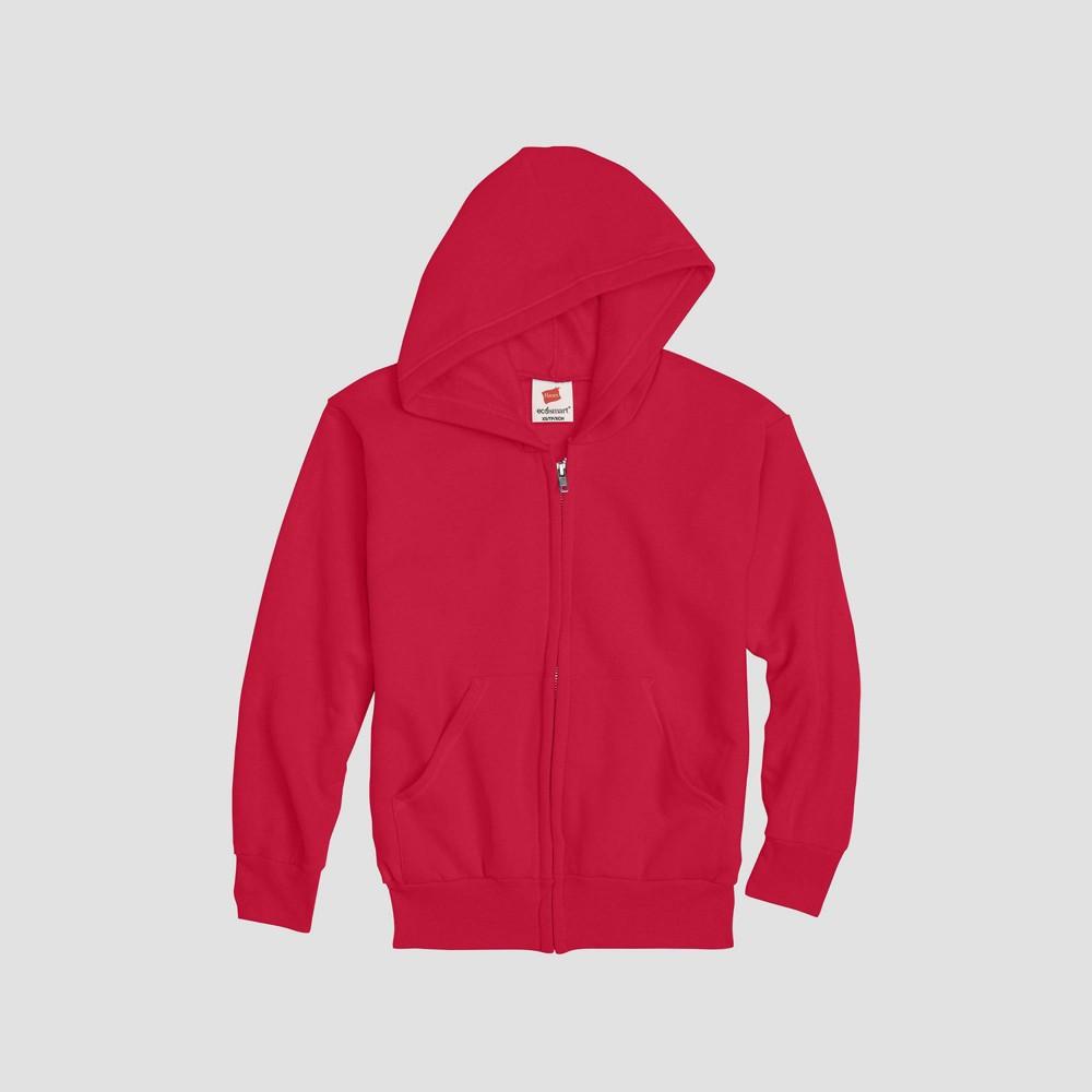 Hanes Kids 39 Comfort Blend Eco Smart Full Zip Hoodie Sweatshirt Red Xs